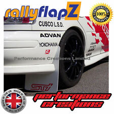 rallyflapZ SUBARU IMPREZA Classic (93-01) Mudflaps White STi Logo Pink 4mm PVC