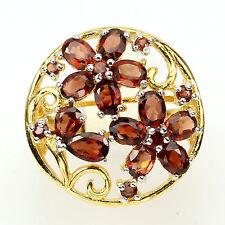 Ring Granat 925 Silber 585 Gelbgold Gr. 55