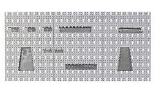 Lochwand 3tlg. und Haken Hakenset grau Werkzeughalter 17 tlg. Set f. Werkstatt N