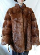 Gorgeous Short Red Thick Nutria Fur Coat
