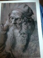 J1-2 Book Plate 6.5 X 8.5 Inches Albert Durer Portrait Of An Old Man