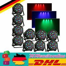 10tlg RGB DMX LED Punktstrahler PAR Scheinwerfer Disco Spiegelkugel Beam Effekt
