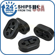 4PCS Car Exhaust Pipe Tip Mount Hanger Rubber Bracket 12mm 2 Holes Replacement