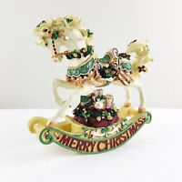 San Francisco Music Box Company Christmas Rocking Horse Figurine W/Box 8.5x8.5