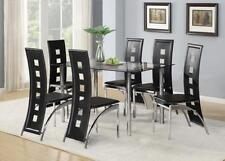 Up to 6 Seats Living Room Table & Chair Sets with 8 Pieces