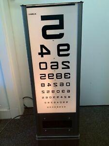 VINTAGE OPTICIANS EYE TEST LIGHT REVOLVING BOX MADE BY HAMBLIN LONDON