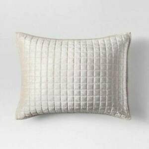 ONE Project 62 Velvet Grid Stitch STANDARD Sham Cream New --- I HAVE 2 AVAILABLE