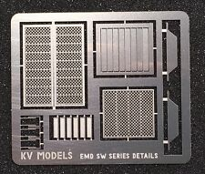 ETCHED DETAILS FOR LIFELIKE WALTHERS PROTO EMD SW8 SW9 SW1200 HO SCALE KV MODELS