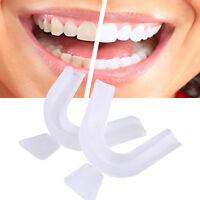 2stk Zahnschutz Mundschutz Zahnschiene Dose Zähne Schutz Sport-Mundschutz·