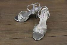 Touch Ups Women's Leah High Heels - Silver Irridescent Glitter - Size 7 B