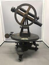 Antique German Brass Surveyors Compass Transit Theodolite Pistor & Schier