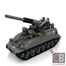 CUSTOM PDF Bauanleitung WW2 WWII M40 GMC Artillery Panzer Tank für LEGO® Steine