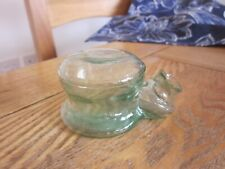 More details for very good condition sheared lip aqua glass snail ink bottle