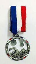 Swimming Gun Metal Silver Medals x 25, 1 JOB LOT ONLY FREE P&P
