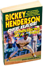 Rockey Henderson ⚫ Off Base: Confessions of a Thief ⚫ (Paperback) (1993)