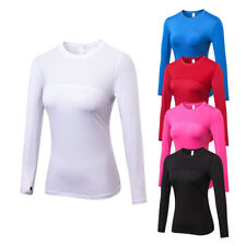 Women's Compression Gym Running T shirts Dri fit Breathable Long Sleeve Tights