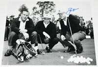 JACK NICKLAUS SIGNED 11x14 MASTERS PHOTO 2 ARNOLD PALMER GARY PLAYER w/COA PROOF