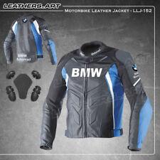 Hombres BMW Motocicleta Moto jinete Racing de cuero Chaqueta LLJ-152 (EE. UU. 42 - 48)