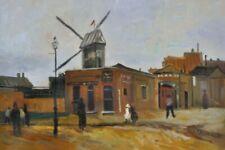 Vincent Van Gogh - la Mühle de la Galette Öl-gemälde Imagen (90x60cm) #