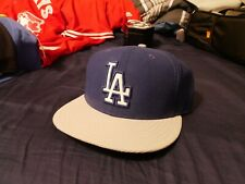 New Era 5950 Los Angeles Dodgers Blue/Grey MLB FItted Hat 7 3/8 NWOT