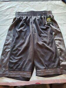 "Champion C9 Men's Duo Dry Black&Gray Athletic Train Basketball Gym Shorts S(26""W"