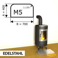 Kamin Bodenplatte Funkenschutz Kaminplatte Edelstahl Ofen Platte Ofenblech - M5