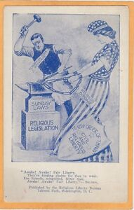 Social History Postcard - Church and State - Civil & Religious Liberty - Poem