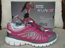 Sale! 30% Off! Auth. Skechers Fitness Tone Ups Run Hot Pink Rubber Shoes Size 5