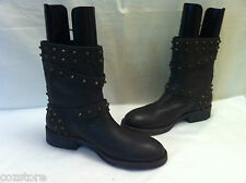 Yin Calt Rover Fango Ankle Boots Brown Leather Womens Size EU 41 US 10 M
