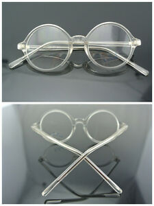 Vintage 43/45mm Round Clear Reading Glasses 100 125 175 200 225 250 275 400 500