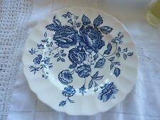 Vintage Elizabeth Pattern Bread Plates by Johnson Bros No. 188208 Blue on White