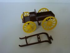 Marx 60mm Scale Western Buckboard / In Brown with Yellow Wheels