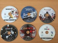 Playstation 3 PS3 Game 6 Disc Bundle #12 Gran Turismo Need For Speed Homefront