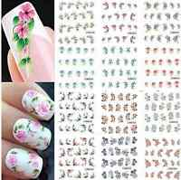 3D Design Flowers DIY Nail Art Polish Wraps Stickers Decals Tips Decorations J6P