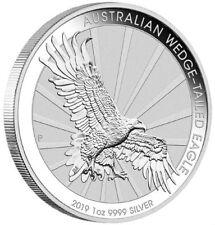 AUSTRALIA WEDGE TAILED EAGLE - 2019 1 oz BU Silver Coin in Capsule
