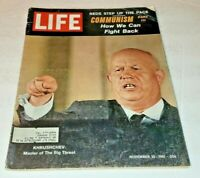 November 10, 1961 LIFE Magazine graphic Old 60s advertising FREE SHIPPING Nov 11