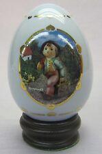 """M.J. Hummel Porcelain Egg from Danbury Mint 1996 """"Merry Wanderer"""""""