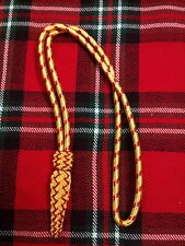 T.C British Army Golden & Red Sword Knot/WWI WWII Sword Knot/Navy Sword Knot