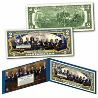 2019 LIVING PRESIDENTS with FIRST LADIES Historical Official Genuine US $2 Bill