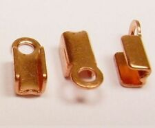 "3 x 9 MM Solid Copper ""Fold Over Crimp ""  Pkg. Of 72  /Made in USA"