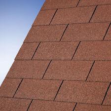 3 m² Rechteckschindeln rot für Gartenhaus Schindeln Dachschindeln Dachpappe