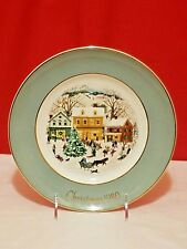 Avon Collector Plate Christmas 1980 Eighth Edition Country Christmas Series