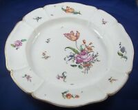 Antique 18thC Nymphenburg Rare Mark Porcelain Floral Plate Porzellan Teller
