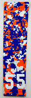 PICK YOUR NUMBER Baseball Softball YOUTH LARGE Arm Sleeve CAMO BLUE ORANGE WHITE