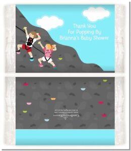 Rock Climbing - Custom Birthday Party Popcorn Wrappers - Set of 12