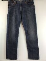 Levi's 505 Jeans Dark Blue 36 X 32 Regular Fit Straight Leg  Denim Fading