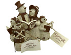 Flurryville Christmas Snowman Family Carolers and Ned the Nutcracker Ornament