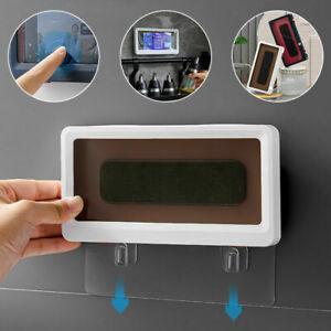 Wall Mounted Phone Case Bathroom Shower Holders Waterproof Kitchen Phone Box HOT