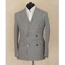 NWT $1,795 Corneliani Double Breasted Linen Wool Silk Gray Sport Coat 40/50 L