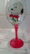 HAND Painted SNOOPY CANE Character Large Lavabile Bicchiere di Vino Regalo snoopi SNUPY UK